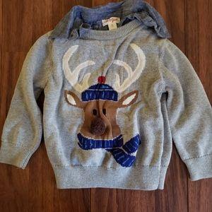 💥5/$20💥 Cat & Jack Reindeer Sweater 2T